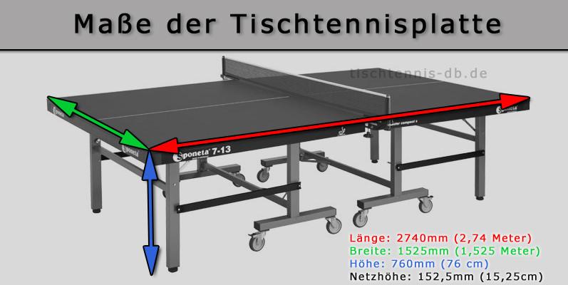 Tischtennis Maße